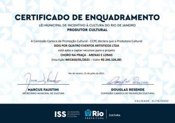 Choro na Praça Lei Municipal de Incentivo à Cultura do Rio de Janeiro ISS RJ